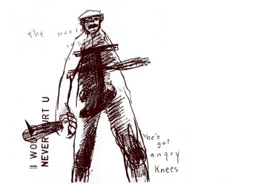 He's got angry knees
